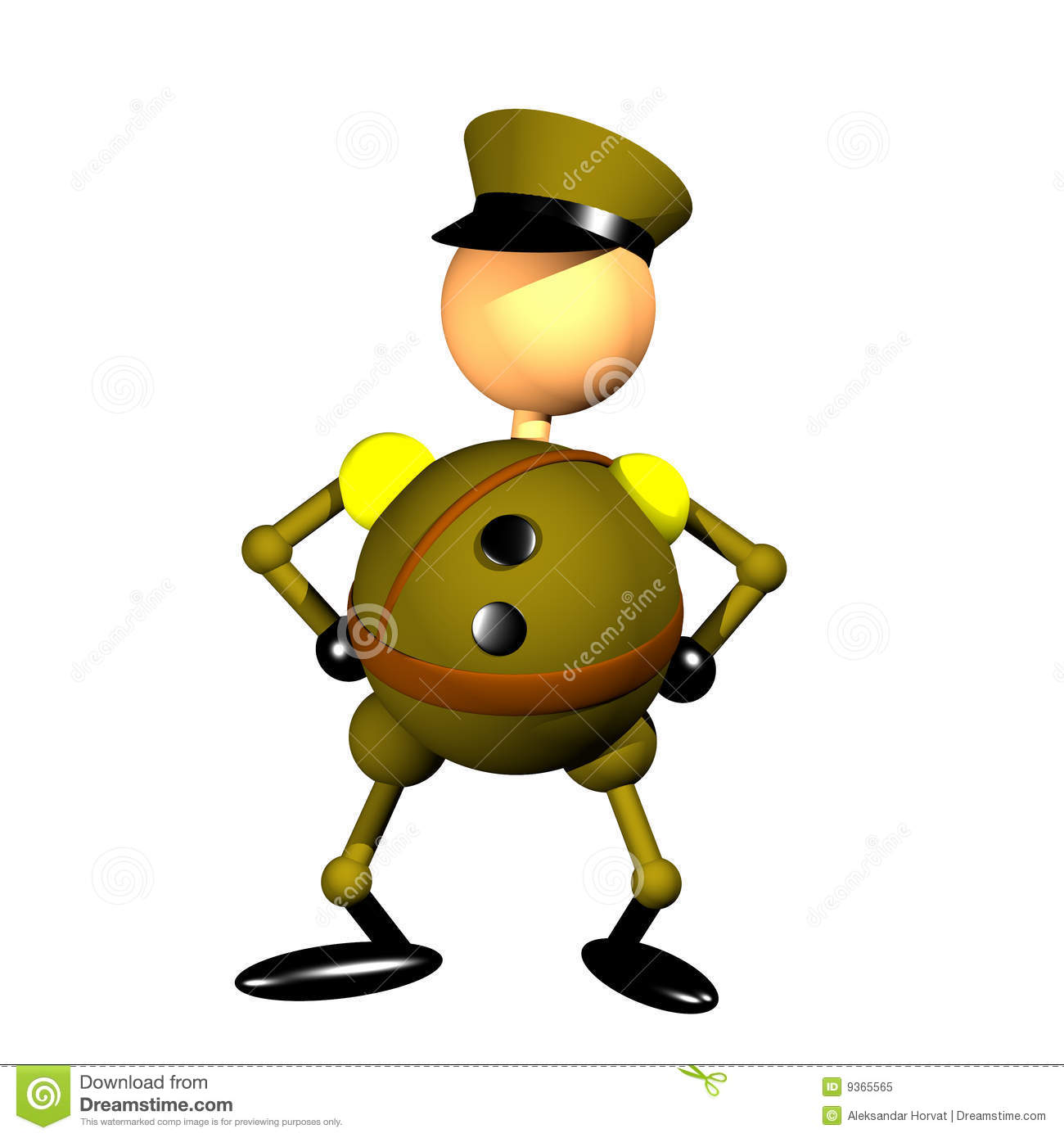 Military Officer Clipart Royalty Free Stock Photo.