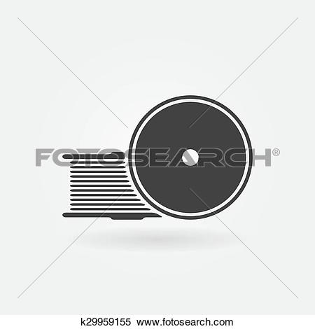 Clipart of Filament for 3D Printer vector icon k29959155.