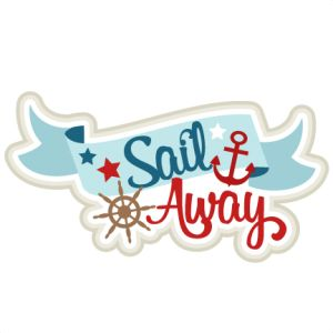 Sail Away SVG scrapbook title sailing svg cut file for cricut.