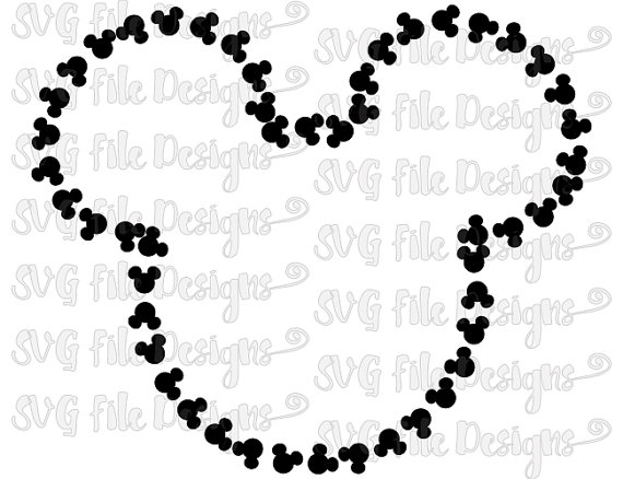 Mickey Mouse Head Pattern Outline Disney Cutting File / Printable.