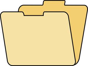 File Folder Open Clipart.