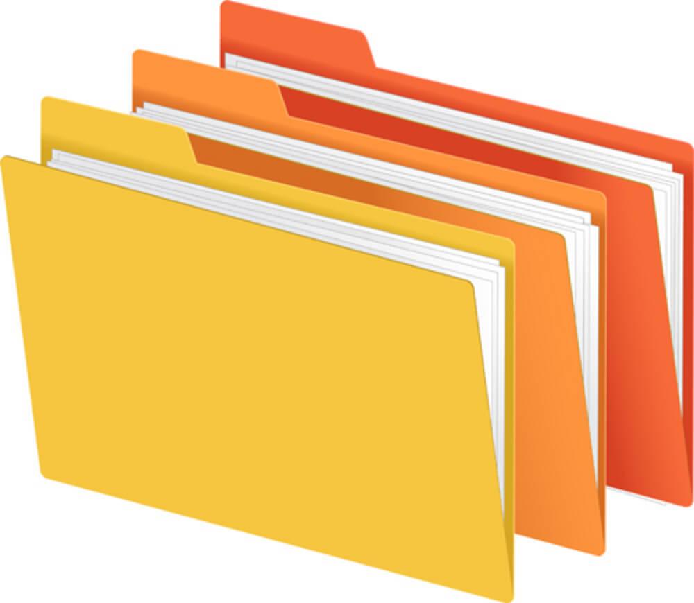 File Folder Clipart.