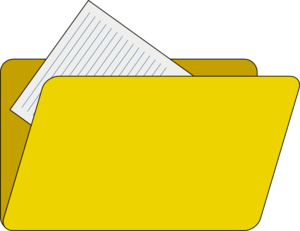 Folder With File Icon Clip Art at Clker.com.