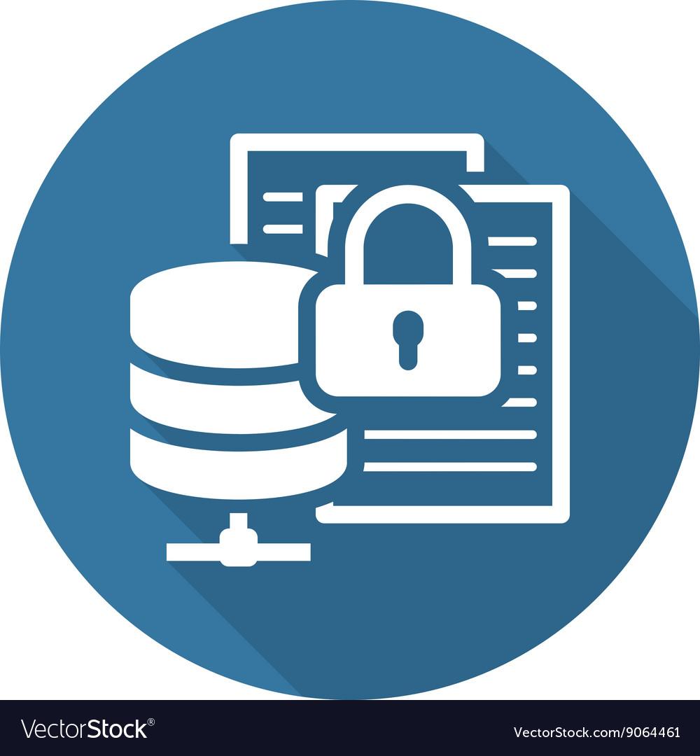 Secure File Storage Icon Flat Design.