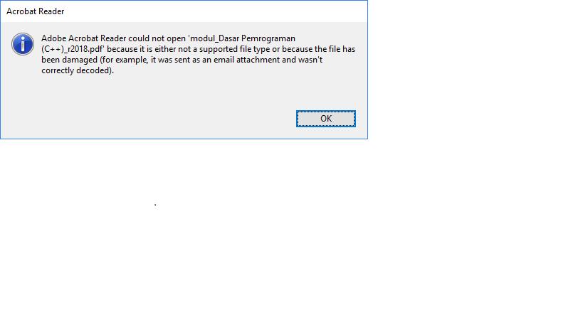 file pdf tidak bisa dibuka.