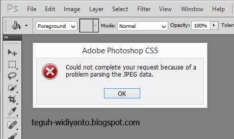 Cara Membuka File JPEG yang Tidak Dapat dibuka ke Dalam Photoshop.