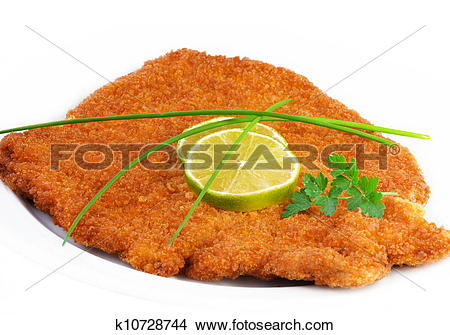 Stock Photo of viennese schnitzel (escalope) k10728744.