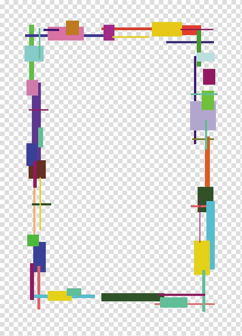 Multicolored border template, Computer file, Multicolored.