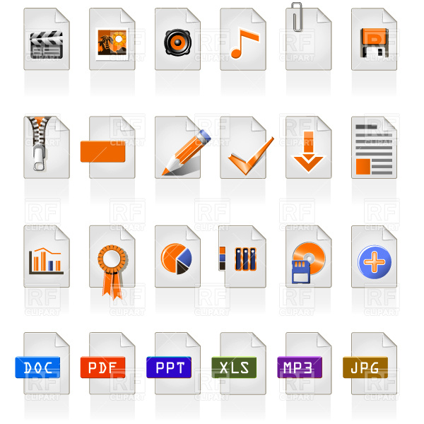 File type and format icons Vector Image #4654.