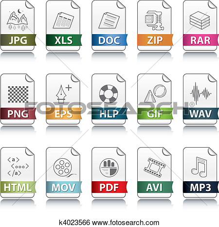 Clip art file extension.
