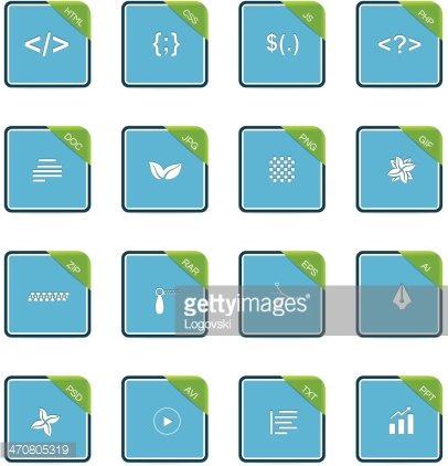 File Type Icons Clipart Image.