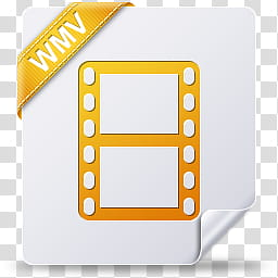 File Type Icons, wmv transparent background PNG clipart.