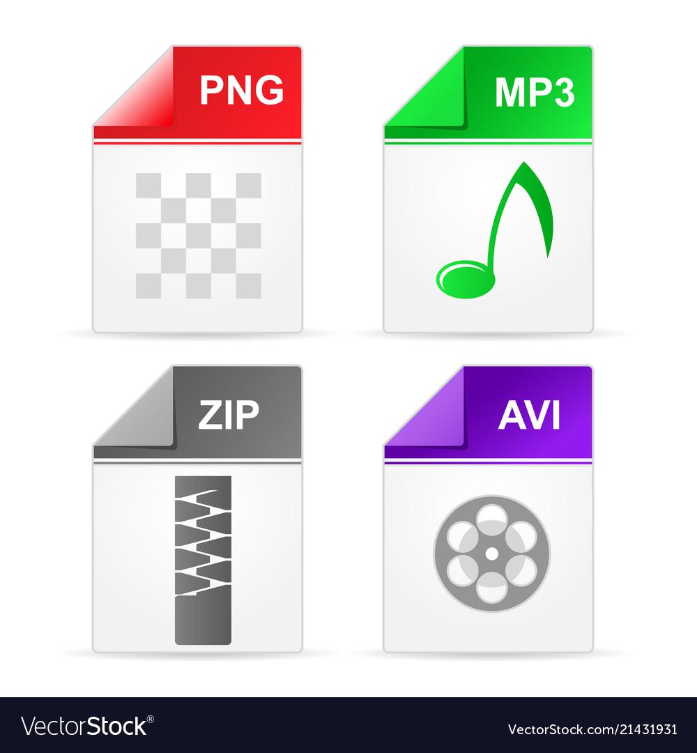 Filetype format icons.