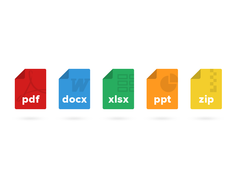 Flat File Type Icons by Andrew Pautler on Dribbble.