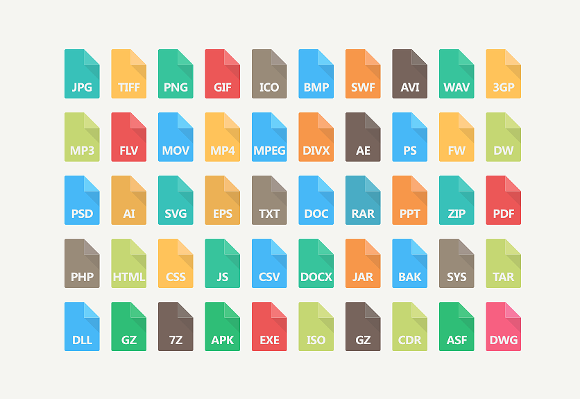 30+ File Type Icons for Designer & Developers.