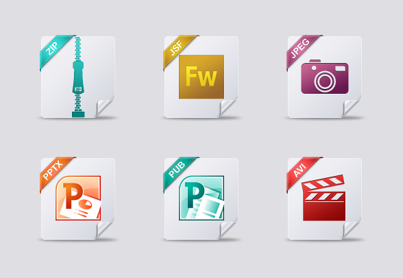 File Type icons icons by.
