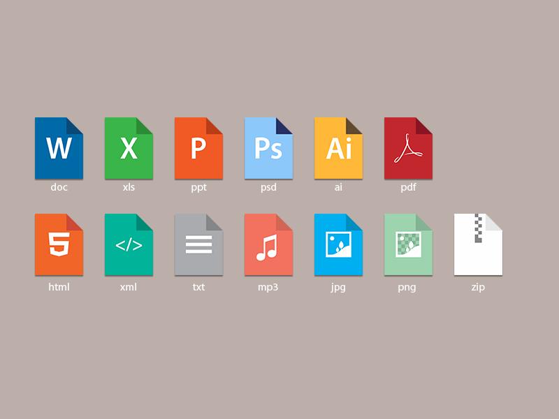 File types by Armas Nurbahari on Dribbble.