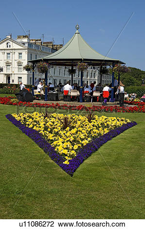 Stock Photo of England, North Yorkshire, Filey, A brass band.