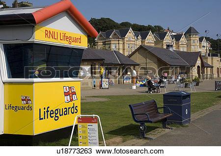 Stock Photo of England, North Yorkshire, Filey, RNLI Lifeguard.