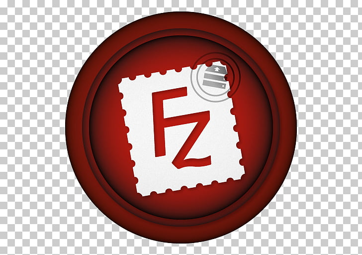 Symbol font, Filezilla, red and white FZ icon art PNG.