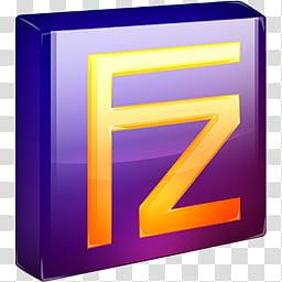 SoftDimension icon pack, Filezilla transparent background.