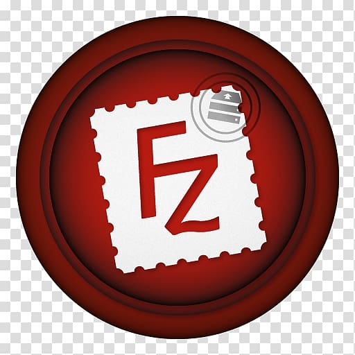 Red and white FZ icon art, symbol font, Filezilla.