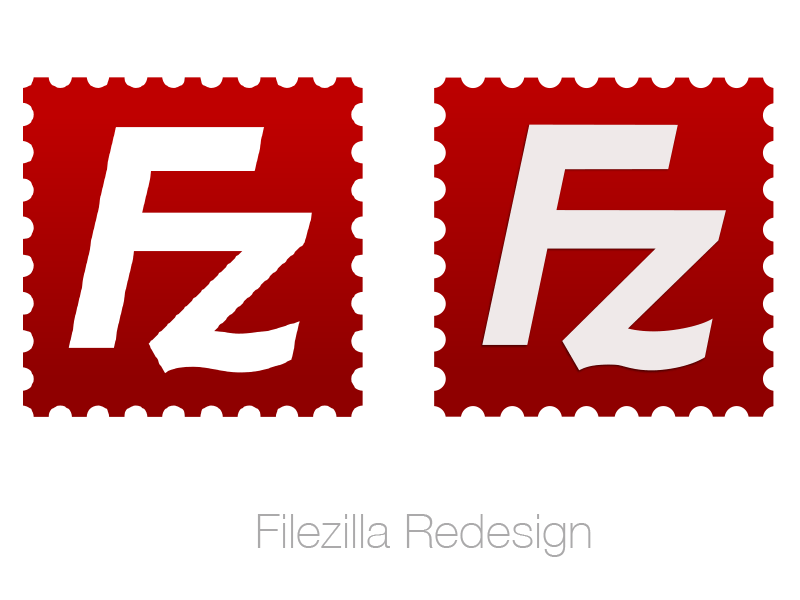 FileZilla Logo Redesign Sketch freebie.