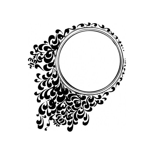 Filigree Circle clip art Vector clip art.