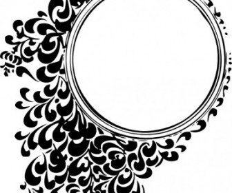 Vector Filigree Circle Vector Clip Art.