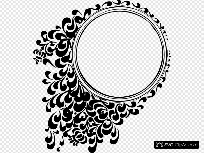 Filigree Circle Clip art, Icon and SVG.