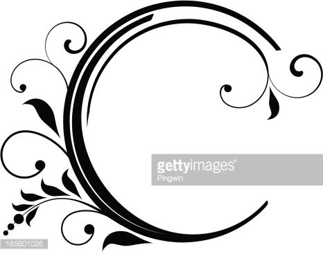 Page decoration, black and white graphic..
