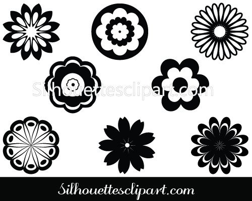 Flowers Filigree Silhouette Download Filigree Vectors.
