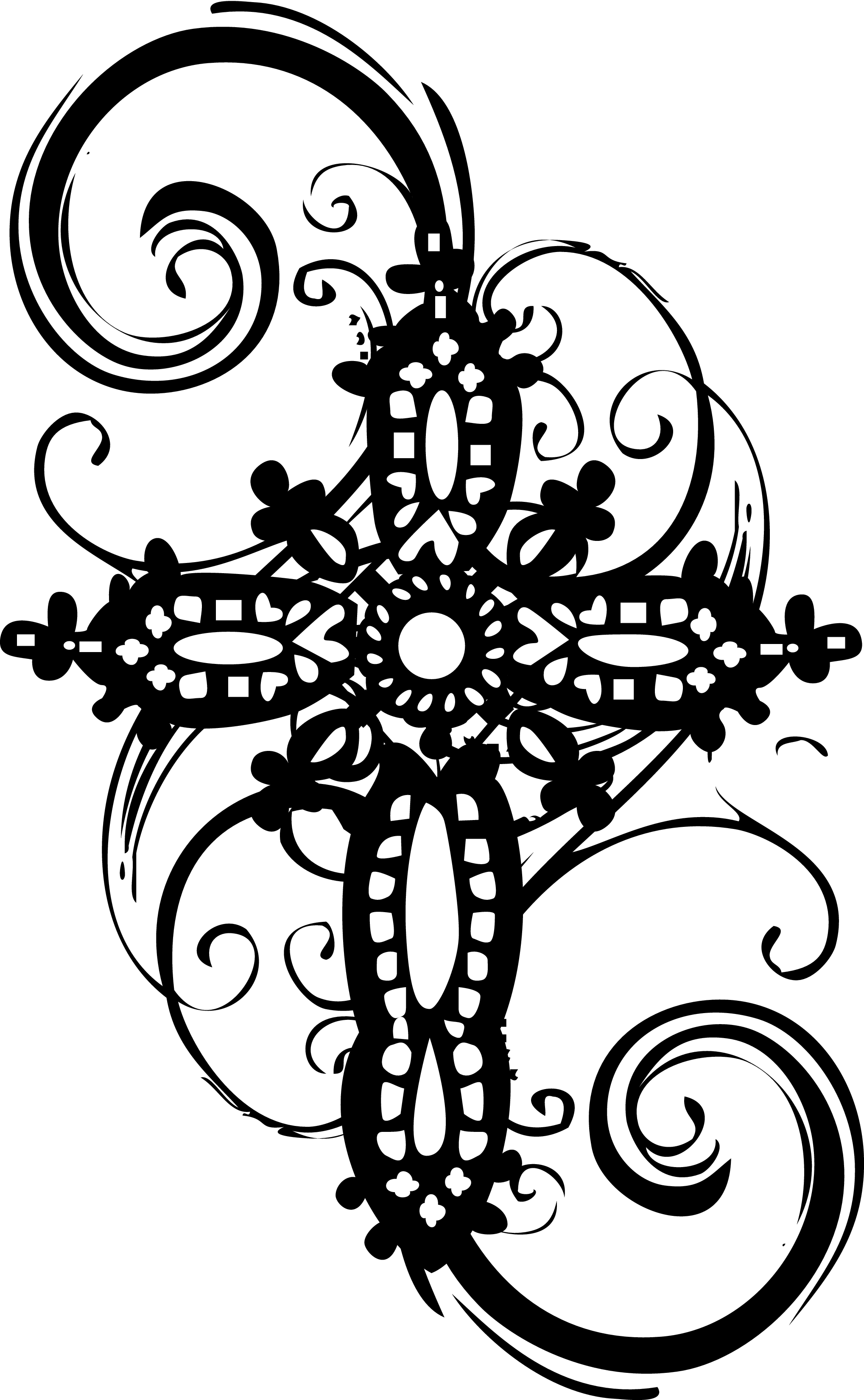 Filigree cross clipart kid 2.
