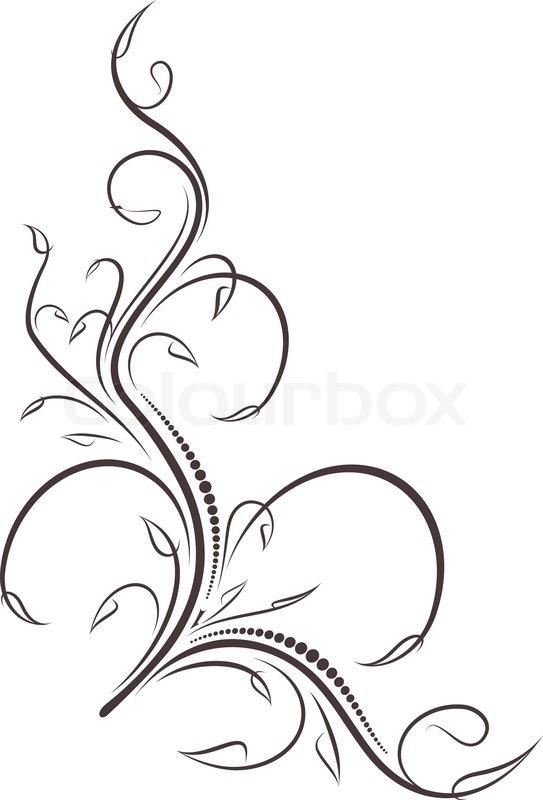 Filigree Design Clip Art N2 free image.