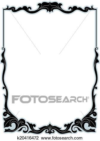 Filigree Frame Clipart.