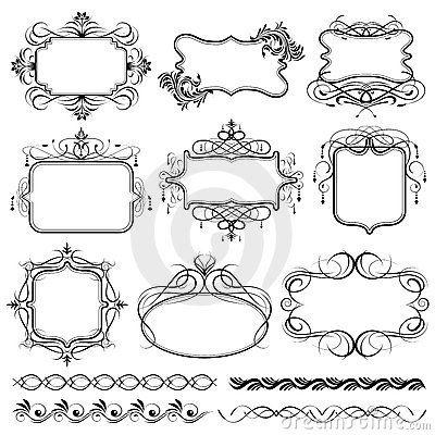 Filigree Frame Design Stock Illustrations, Filigree Frame Design.