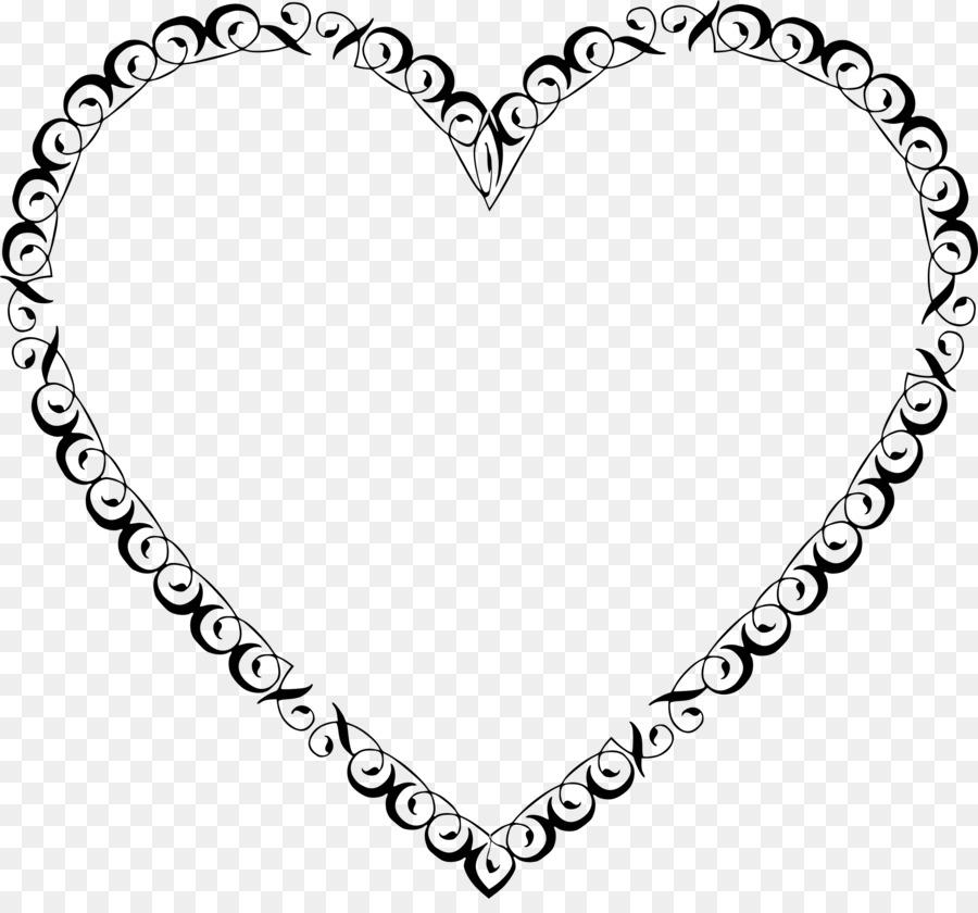 Filigree Heart Clip art.