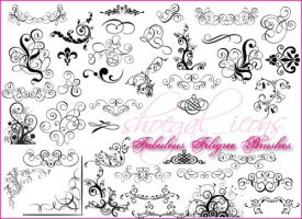 Large Filigree Brushes by kissncontrol on DeviantArt.