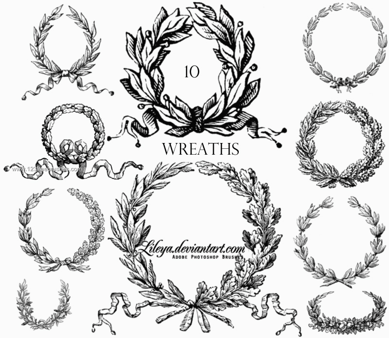 Laurel WreathFree Photoshop Brush Download. More Free Brushes, www.