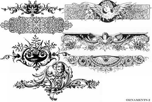 25 Sets of Really Useful Ornament Photoshop Brushes.