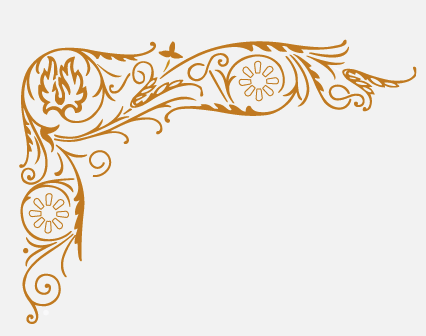 Gold Filigree Png Vector, Clipart, PSD.