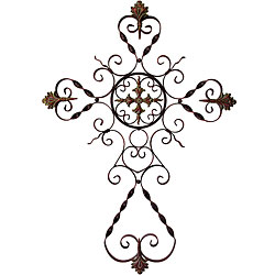 Filigree cross clip art.