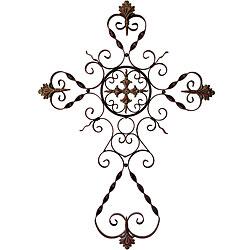 Filigree cross clip art.