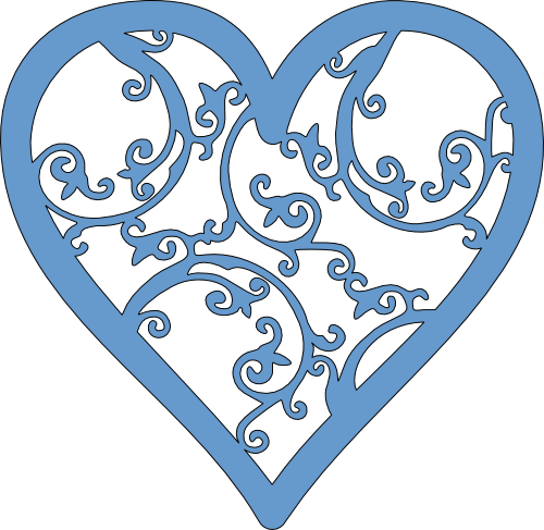 Free filigree heart clip art.