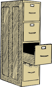 File Cabinet With Drawes Clip Art at Clker.com.