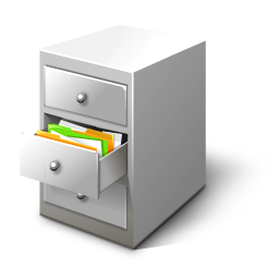 Cabinet, card, file icon.
