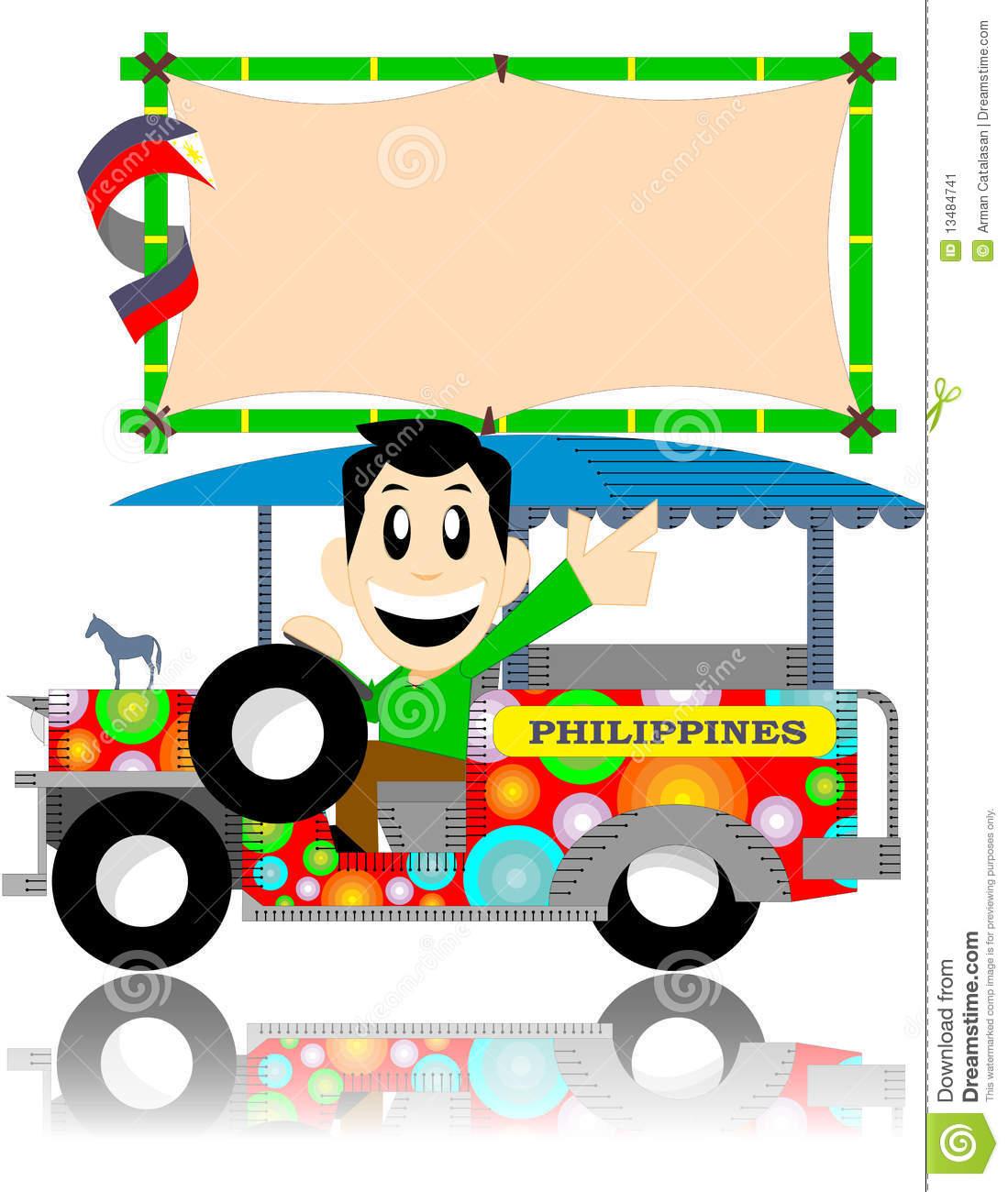 Filipino Jeepney Clipart.