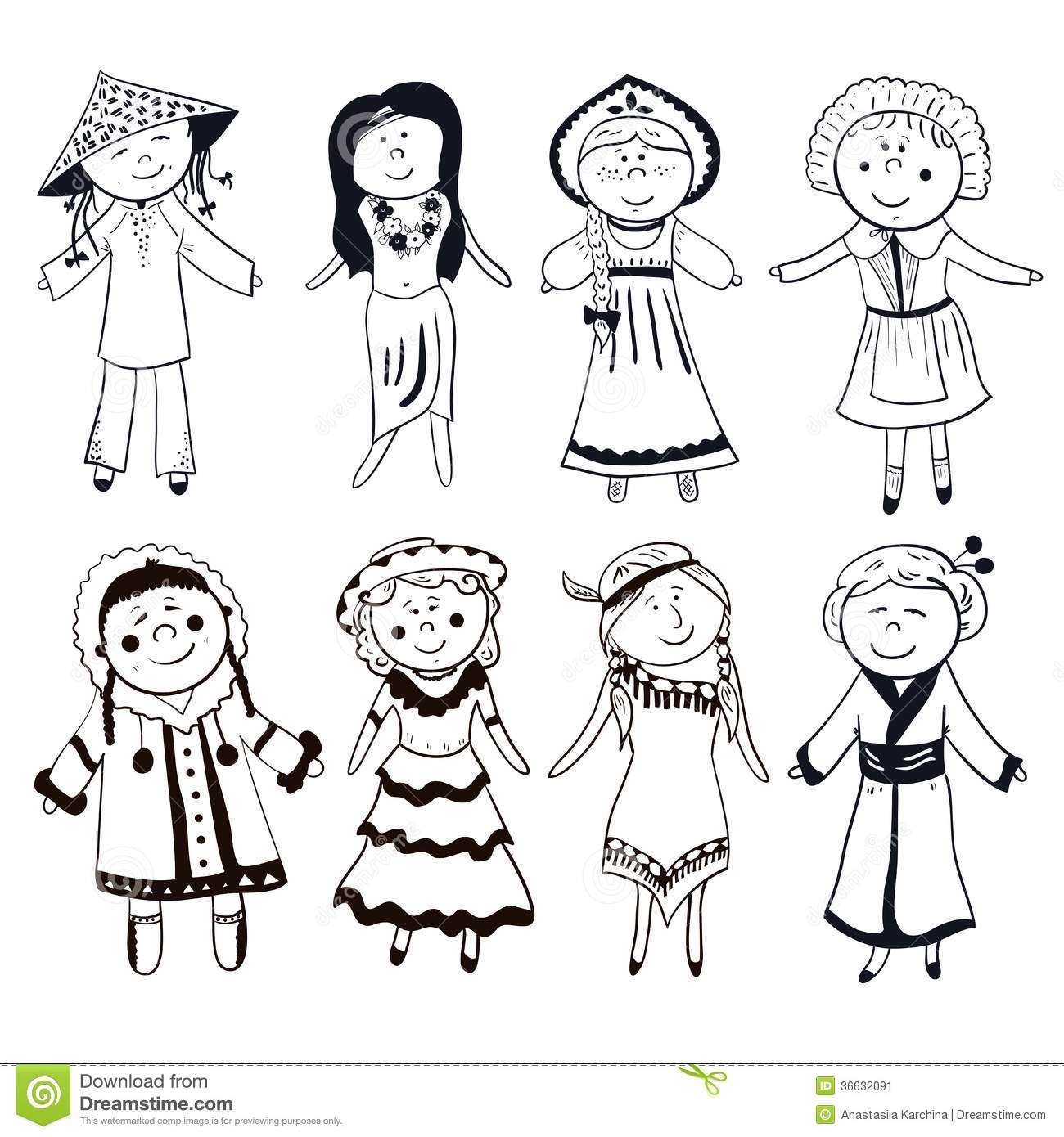 Culture Clipart Black And White.