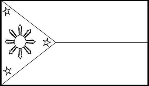 Filipino flag black and white clipart.