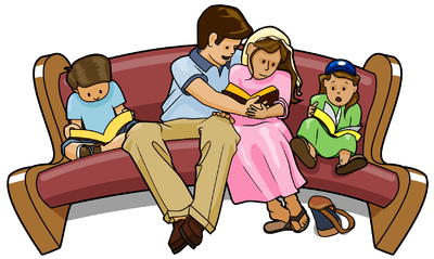 Filipino Family Eating Together Clipart.